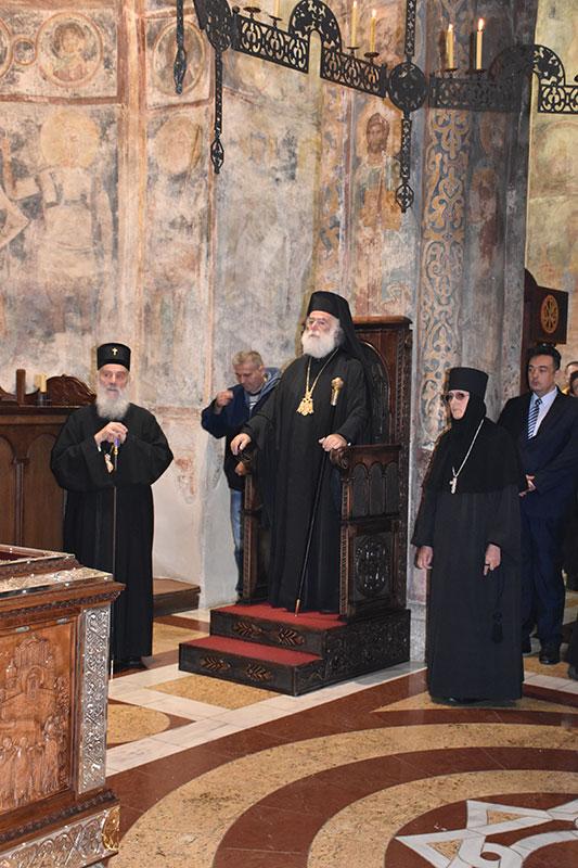 Његово Блаженство Папа и Патријарх александријски и све Африке г. ТЕОДОР II у посети Манастиру Раваница